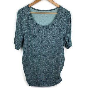 Motherhood Maternity Aqua Short sleeve tunic
